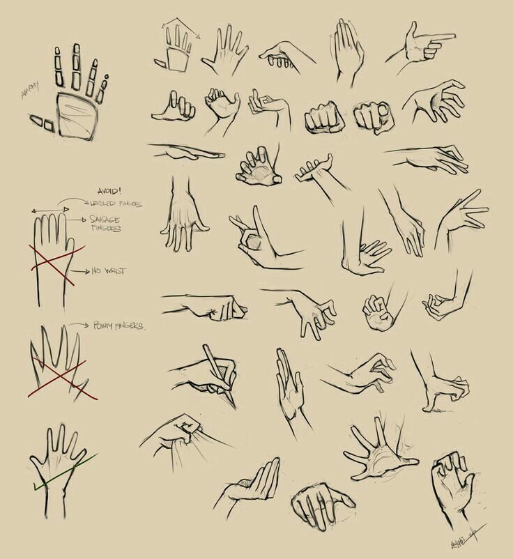 Hands, text; How to Draw Manga/Anime