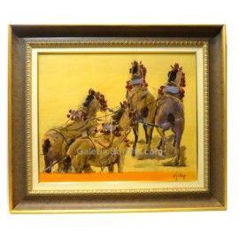 Comprar cuadros de Aurora Gallego en la Galería Sorolla. Comprar cuadros online : Carruajes en la Maestranza. Ref.:136791