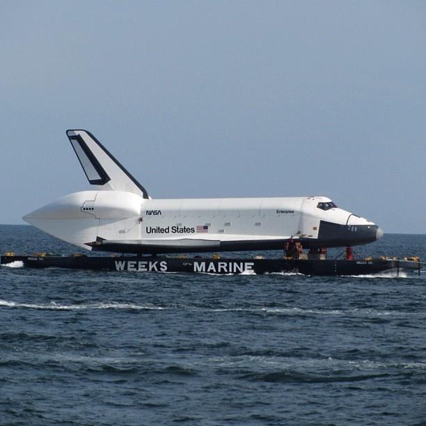 Space Shuttle Enterprise off Coney Island yesterday #spottheshuttle - @jeffreynyc