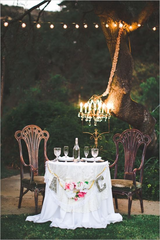 Bride And Groom Wedding Table Ideas farm to table chateau wedding Sweetheart Table With Chandelier Sweethearttable Weddingreception Weddingchicks Httpwww Bride Groom