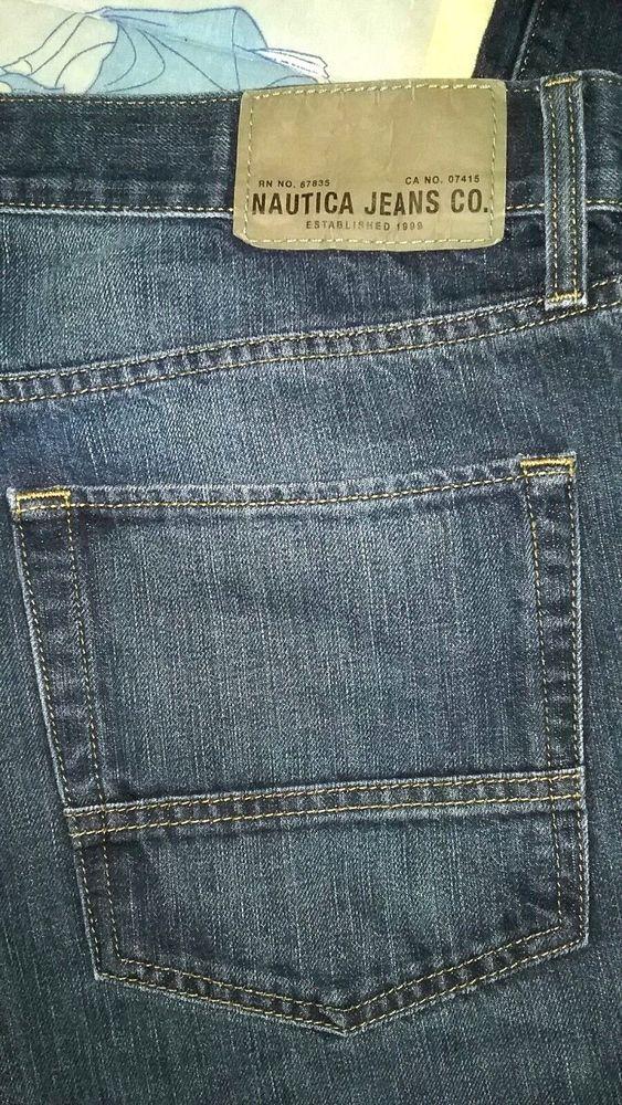 a6592765 NWOT-NAUTICA JEANS CO-MENS 36X30-Relaxed Fit-Straight Leg-Classic Rise-Dark  Wash #Nautica #ClassicStraightLeg