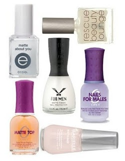 Matte nails just won't go away but for those whose interest in the whole matte nail look was low at best, check out some of the partial matte manis and nail art work. They just may pull you over to the matte side. jndc