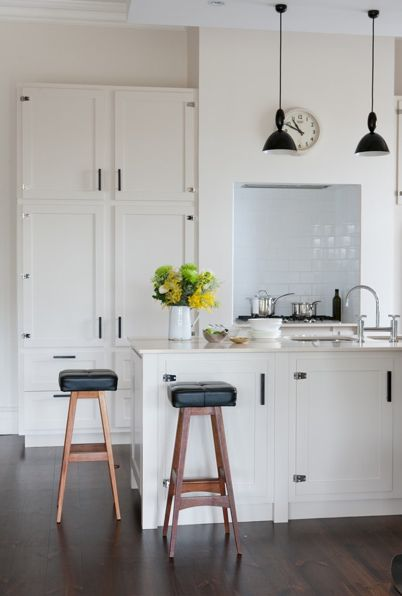 Light and bright with dark flooring  - incorporate pendants over bench if layout allows