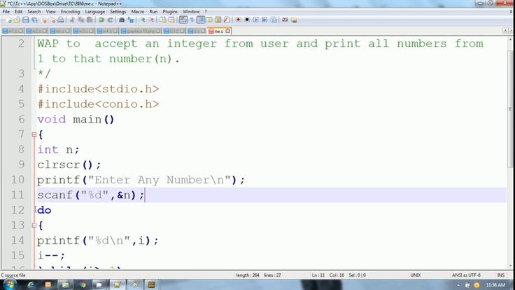 C Language in Hindi | Print All Numbers from N to 1 | do while loop