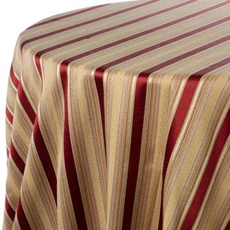 Cassandra Stripe Print Table Linen Rentals