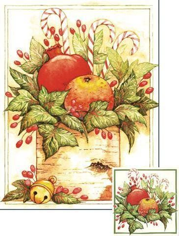 Pomegranates And Orange Deluxe Boxed Christmas Cards -- Check out