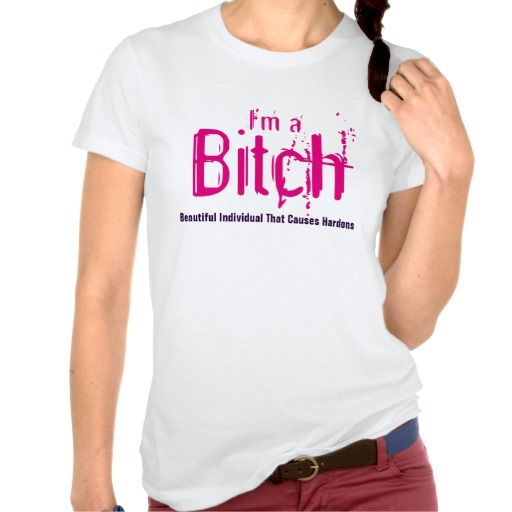 Humorous #ImaBitchtShirt with the perfect acronym. Voice out that you are a Beautiful Individual That Causes Hardons with this witty #WomanstShirt.