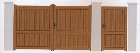 Portail PVC chene en vente dans le loir et cher 41, l'indre 36, et le cher 18