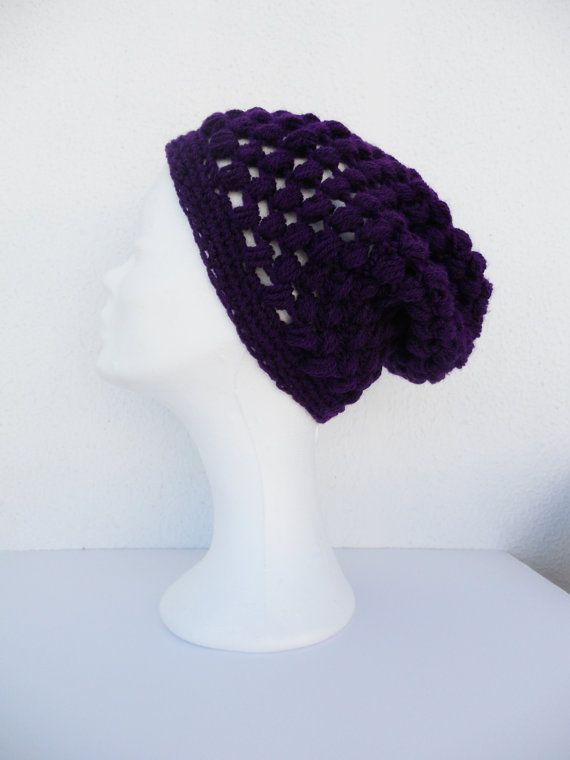 FREE Registered Shipping  Slouchy crochet beanie  Womens by IL2C