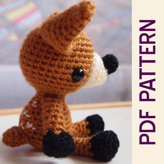 Amigurumi Doll Nose : Amigurumi Crochet Woodland Forest Fawn Baby Deer Toy Doll ...