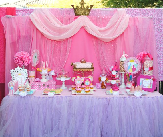 PRINCESS Birthday Party - COMPLETE - Disney Princess Party- Girls Birthday- Bridal Shower- Pink Princess Party- Princess Birthday-Printables