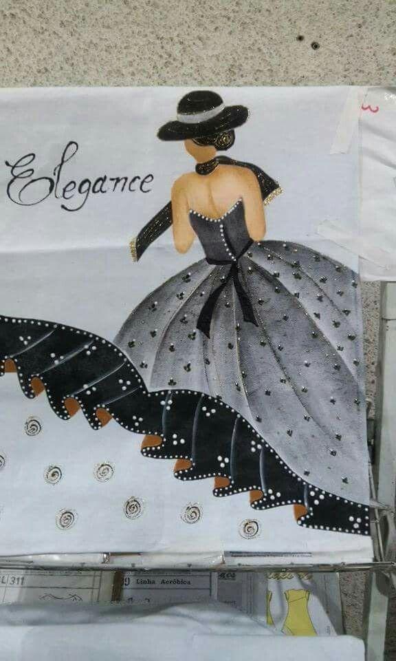 Pintura em tecido - Compartilhado no grupo Barrados Inteligentes do Facebook -Divino!!!