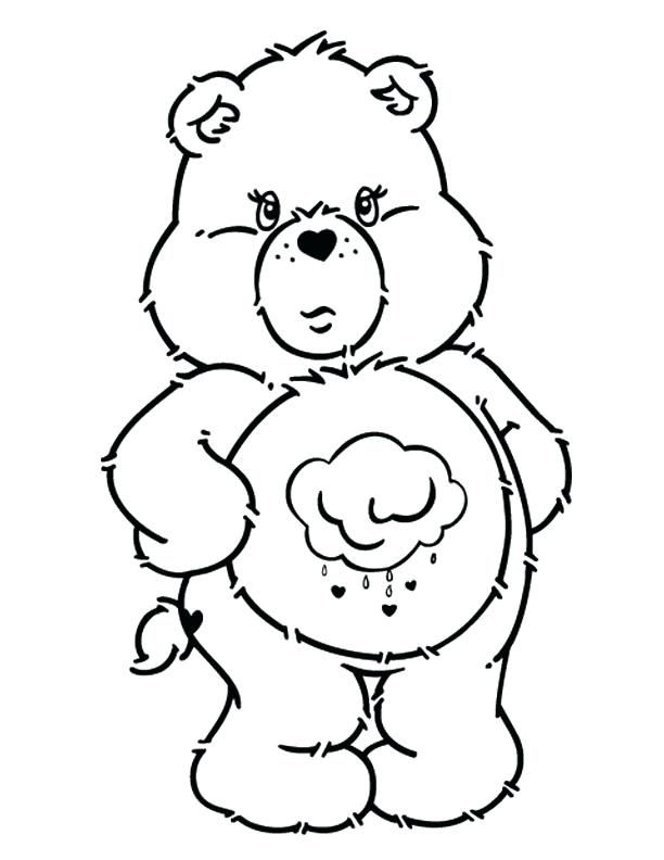 Grumpy Bear Bear Coloring Pages Coloring Pages Cute Coloring Pages