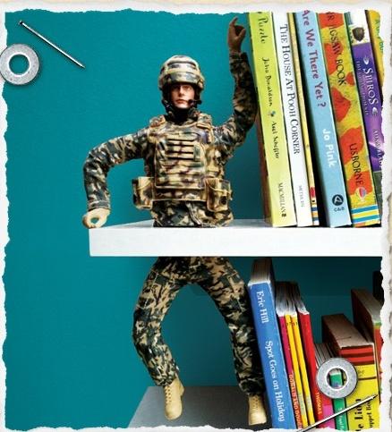 Boekensteun jongenskamer