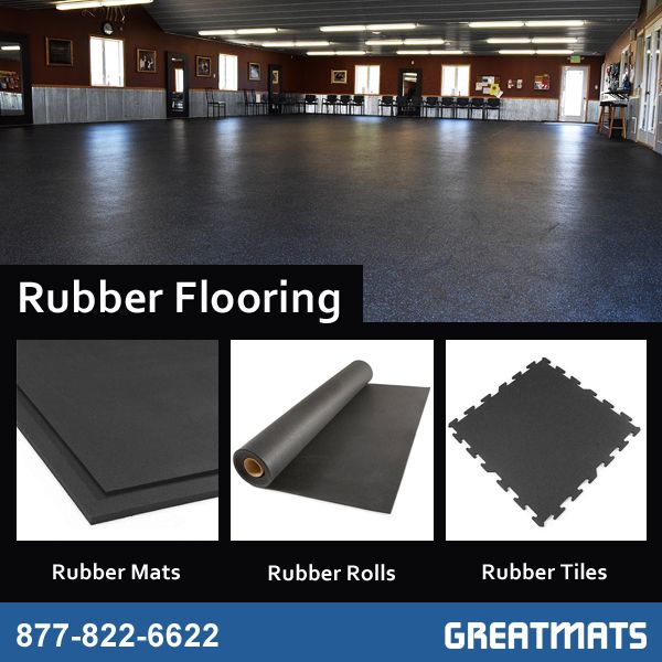 Rubber Flooring Is Available In Mats Rolls And Tiles Rubber Is Commonly Used For Gym Flooring And Horse Commercial Rubber Flooring Flooring Rubber Flooring