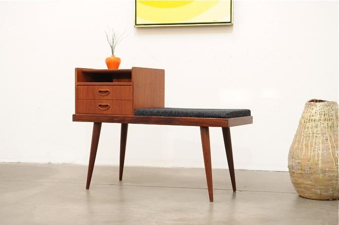 Danish Modern Teak Entry Hall Chest Bench Table Nakashima Mid Century Eames - Furniture Shopping - Zimbio