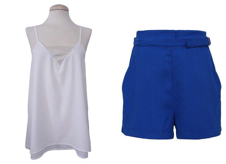 TOPS de tirantes! Genial para combinar con SHORT llamativo azul klein  Podéis conseguir el look aquí >  TOP http://www.colettemoda.com/producto/top-tirantes/ SHORT http://www.colettemoda.com/producto/short-tiro-alto/  #coletteplencia #moda #estilo #paris
