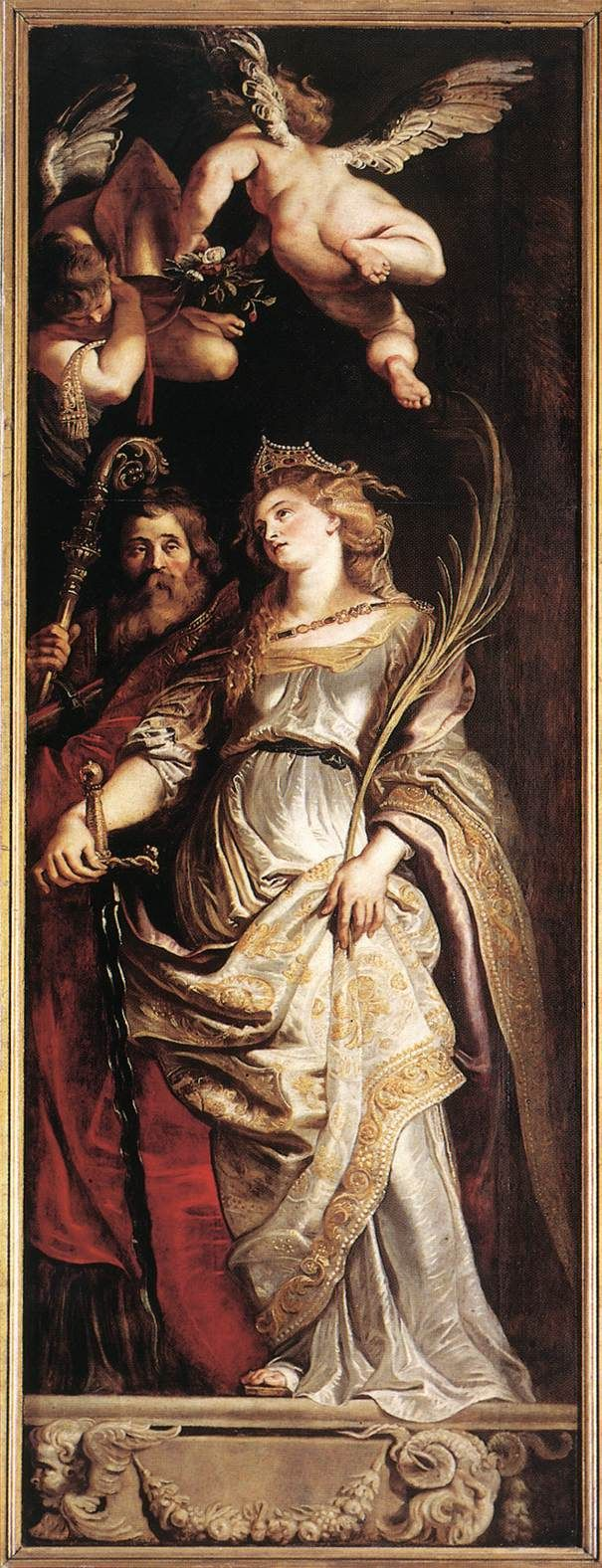Sts Eligius and Catherine Peter Paul Rubens 1610 Style: Baroque Genre: religious painting Technique: oil