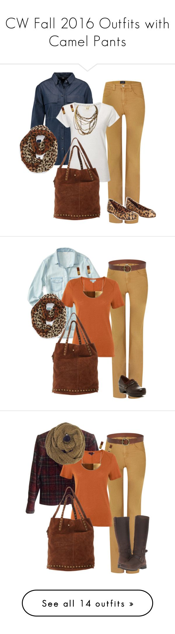 """""""CW Fall 2016 Outfits with Camel Pants"""" by tammy-marshall on Polyvore featuring Armani Jeans, TIBI, White Stuff, TIFFI, Dolce&Gabbana, BP., Minimalist, capsulewardrobe, LiveSimply and Aéropostale"""