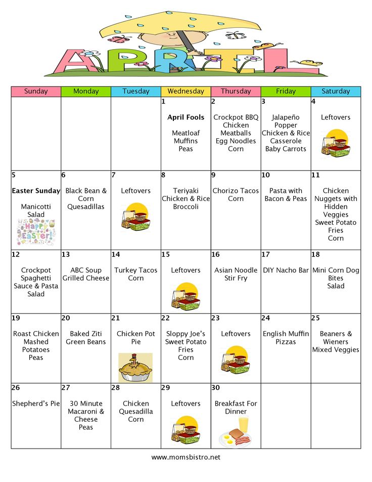 A Month Of Meals On A Budget | April 2015 Meal Plan | 30 Days of Dinners for $151