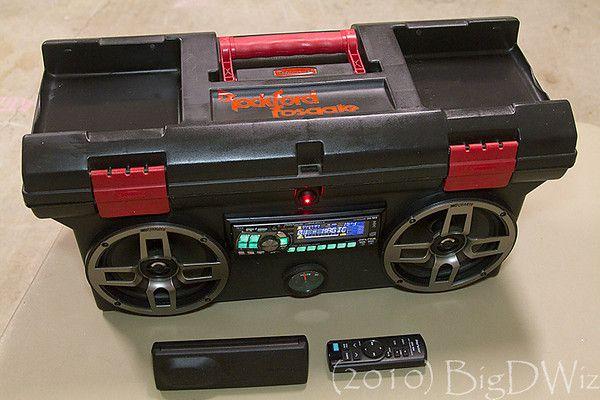 DIY Custom Toolbox Boombox built with Car Audio Gear!