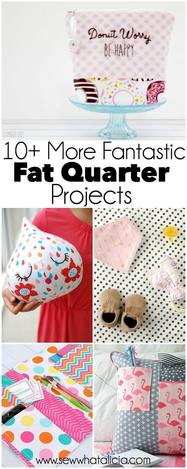 10 More Fantastic Fat Quarter Projects | www.sewwhatalicia.com
