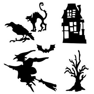 Silhouette options... maybe a window of bats or birds?