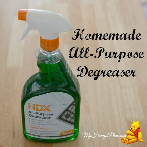 Homemade All-Purpose Degreaser