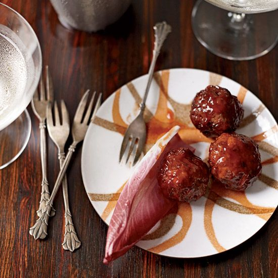Cocktail Meatballs | According to Southern tradition, the hostess at a ladies' luncheon should serve little meatballs in a chafing dish or on a platter with toothpicks as a satisfying snack for any men in attendance.