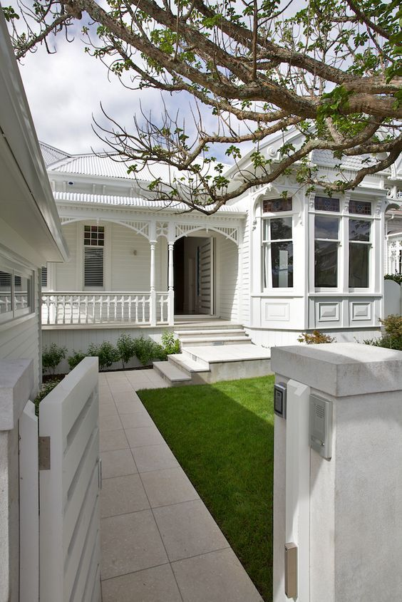 White painted House exterior colour: