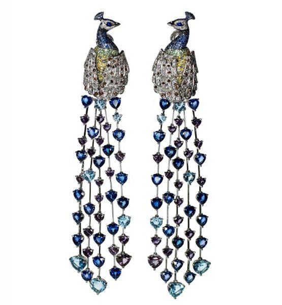 Chopard Peacock Earrings: Jewellery Editor, Alexandrite Heart, Animal Kingdom, Chopard Earrings, Chopard Immortal, Chopard Animal, Chopard Peacocks, Peacocks Earrings, Heart Shapped