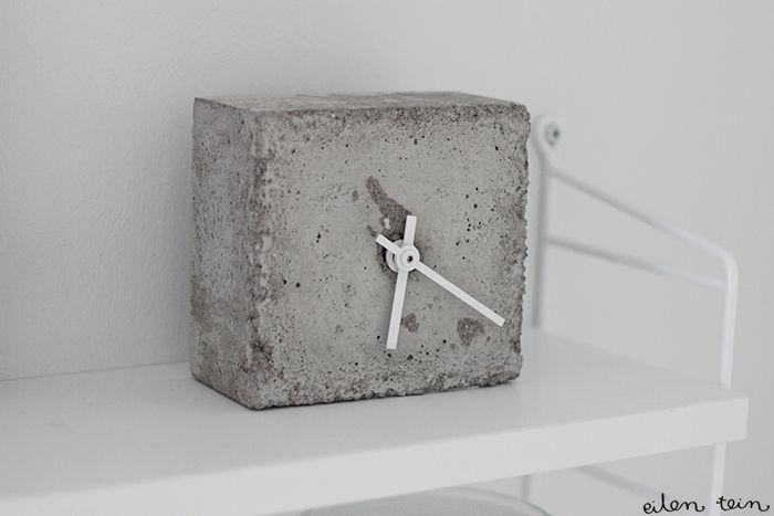 DIY concrete clock by Eilen tein
