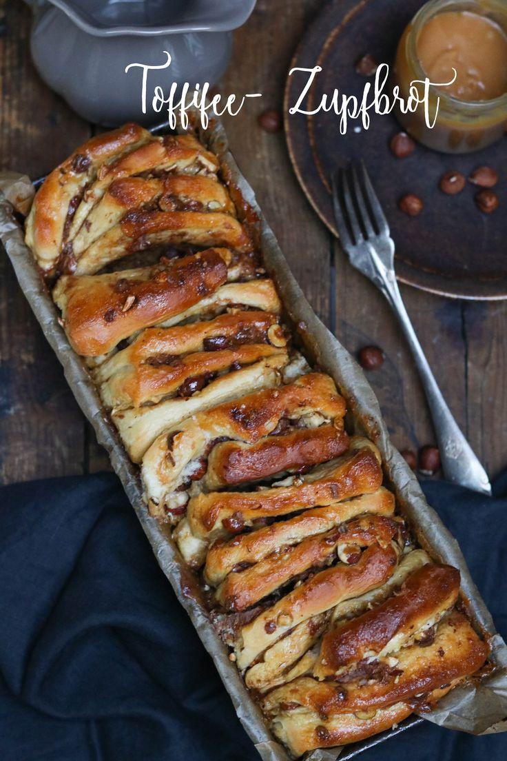 Zupfbrot a la toffifee- mit Karamell, Nüssen und Schoki