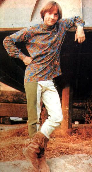 Peter Tork, The Monkees.  I dunno why that shirt goes with those pants; it just does.