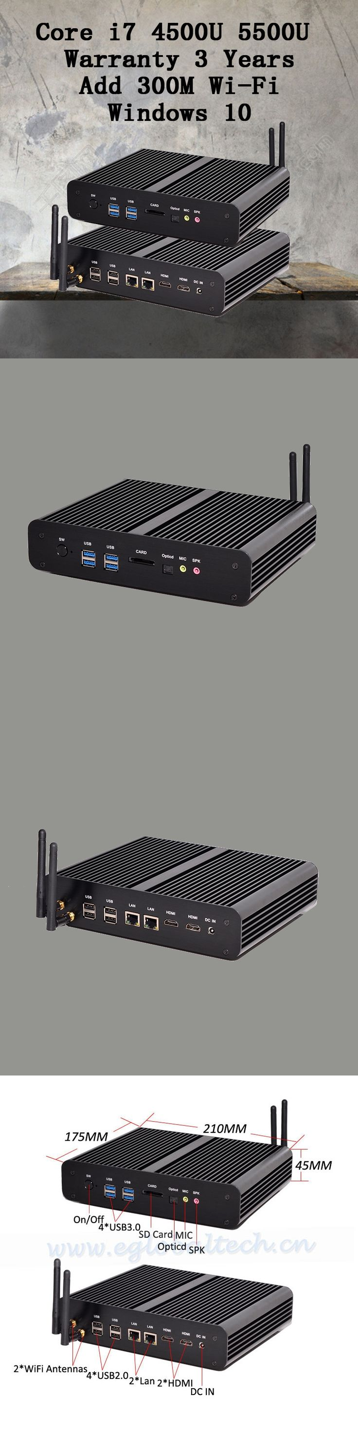 Mini PC Graphique HD 5500 Windows HDMI Carte 4 K HTPC Mini-Itx Micro Intel Core i7 5500U mini computer 16G RAM best combination