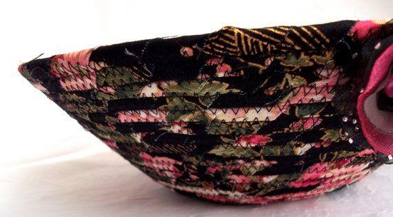 $20 #Black #Rose #Basket #Handmade #Jewelry #Holder #pink #roses #basket #bowl #makeup #organizer #brush #holder #bathroom #decor by WexfordTreasures