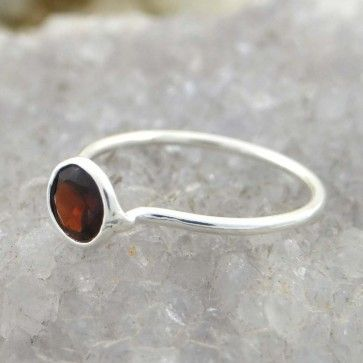 Garnet Stone Ring 925 Sterling Silver Rings Women Fashion with Yellow Stone