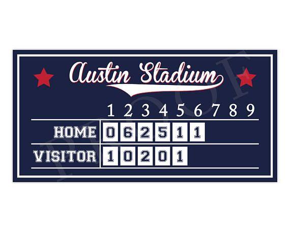 Baseball Scoreboard Baseball Birthday Baseball Party Sign