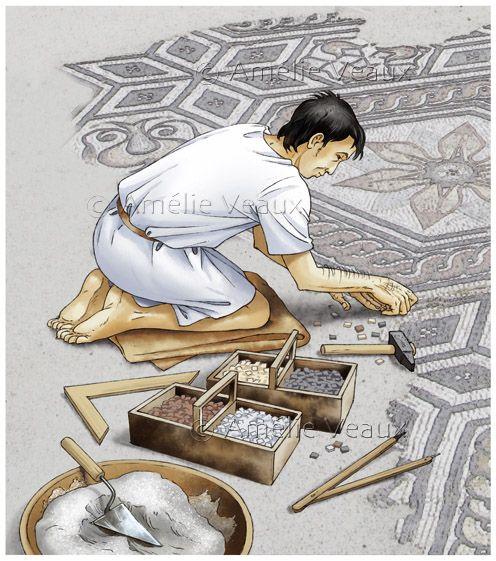 mosaic artisan ~ Amelie Veaux