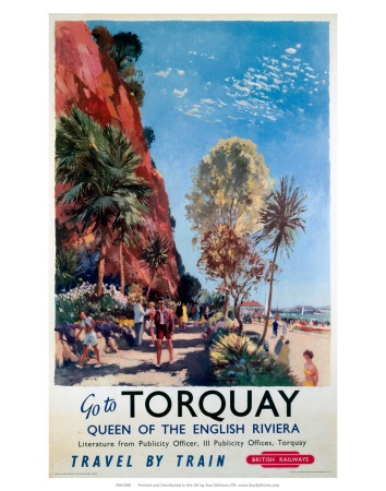 Go to Torquay, Queen of the English Riviera. (British Railways, c.1958) #devon www.ilovesouthdevon.com