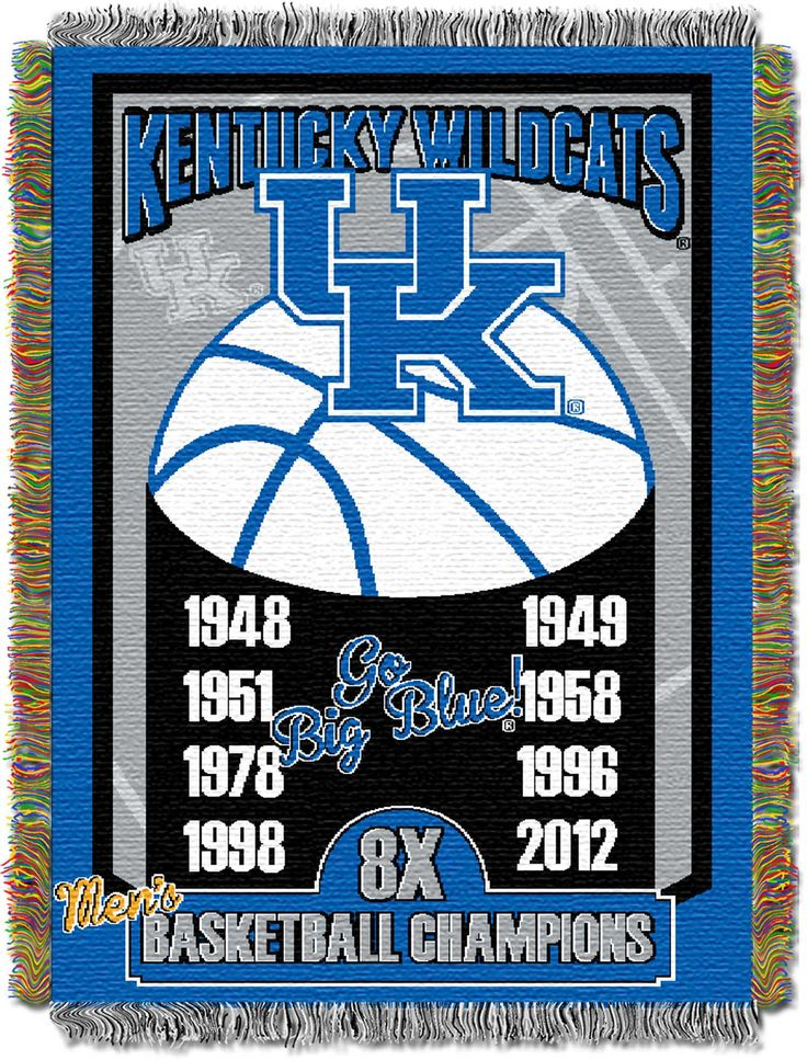 """Kentucky College """"""""Commemorative"""""""" 48x60 Tapestry Throw"""