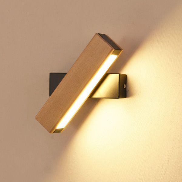 Wholesale Cheap Led Indoor Wall Lamps Shade Type Nordic Wooden