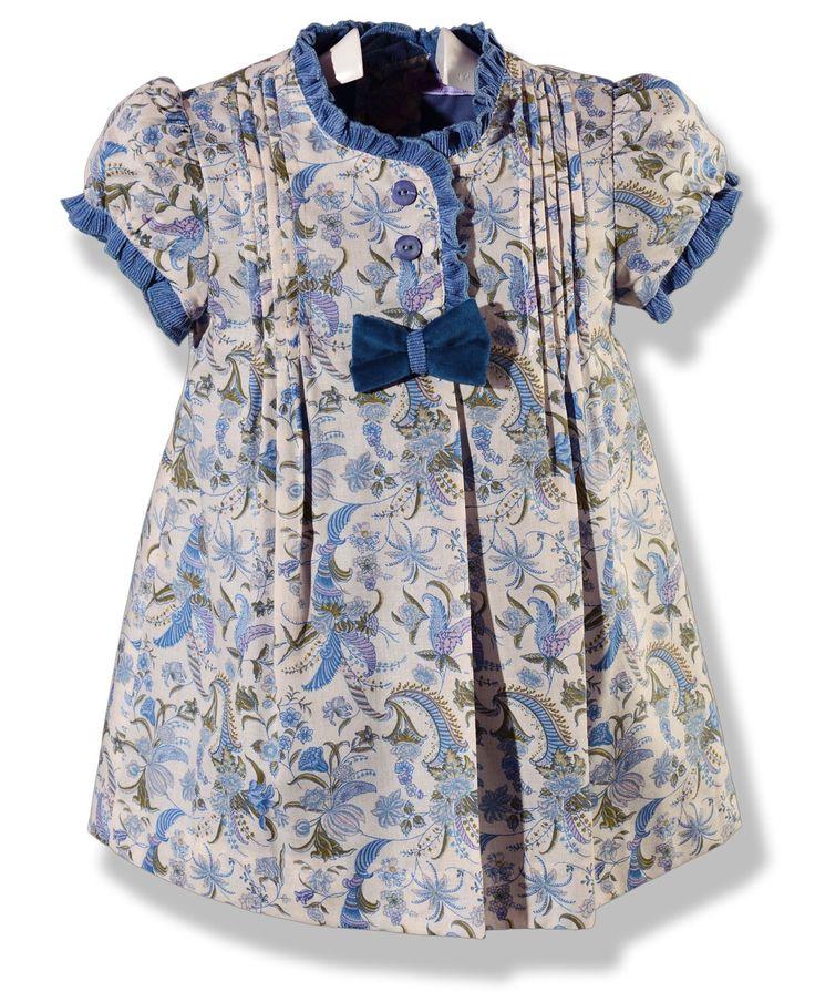 Vestido estampado azul