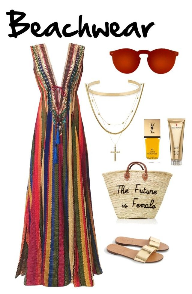 Beachwear by lawastyle on Polyvore featuring J.Crew, Jennifer Fisher, Luv Aj, Elizabeth Arden and Yves Saint Laurent