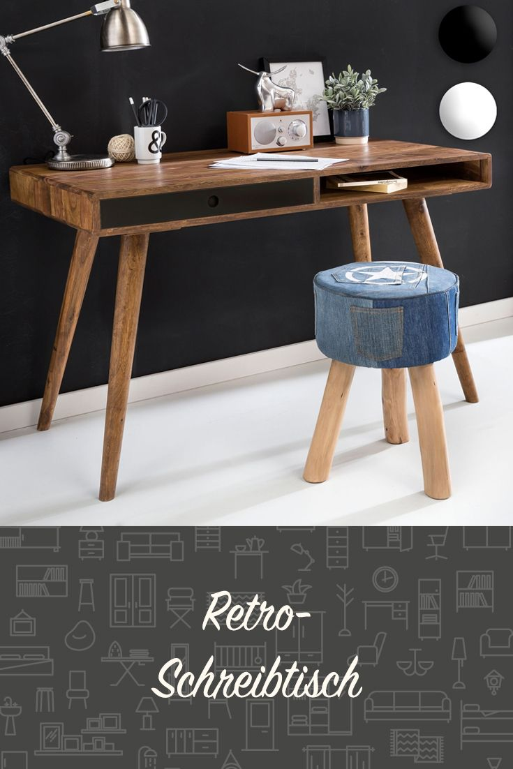 Retro Schreibtisch Fur Eine Entspannte Arbeitsatmosphare Buro