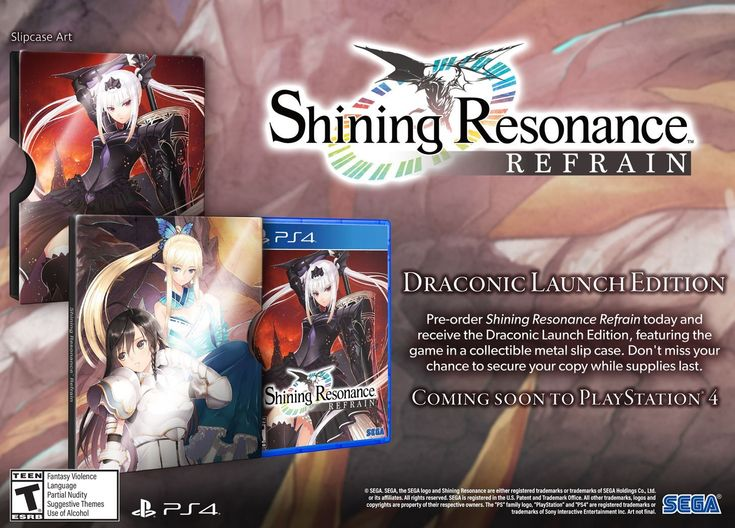 Shining Resonance Refrain Draconic Launch Edition is up for preorders #Playstation4 #PS4 #Sony #videogames #playstation #gamer #games #gaming