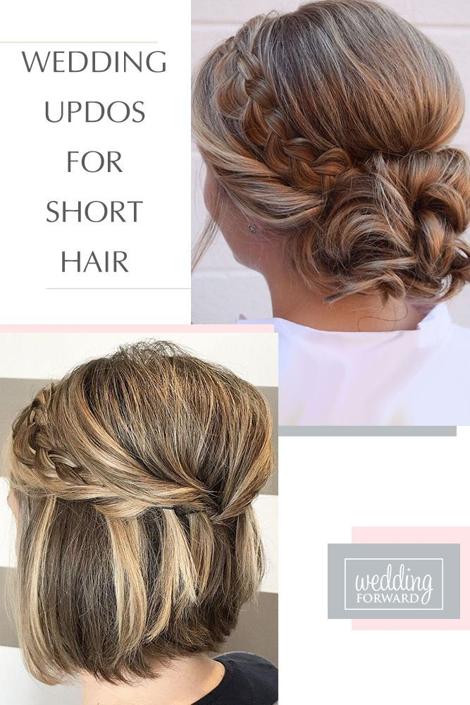 Inspiration For Wedding Updos For Short Hair Length Wedding Forward In 2020 Short Hair Updo Short Wedding Hair Short Hair Diy