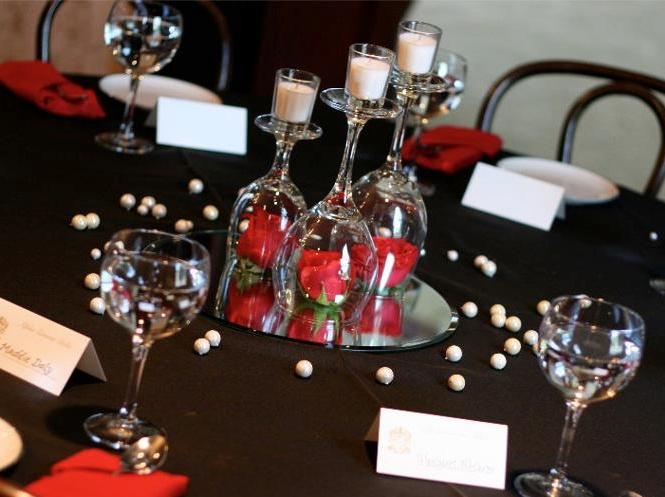 ΑΓΔ Pref centerpiece ~ easy & low cost. great for many social events.