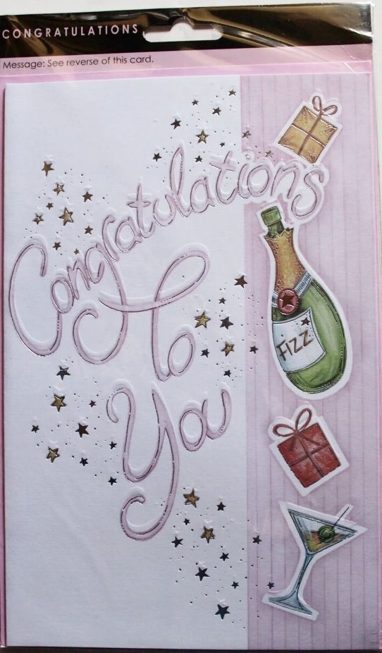 Congratulations to you large card, pass exams, test, driving test etc, brand new #RoseGarden #Passexamstestdrivingtestetc
