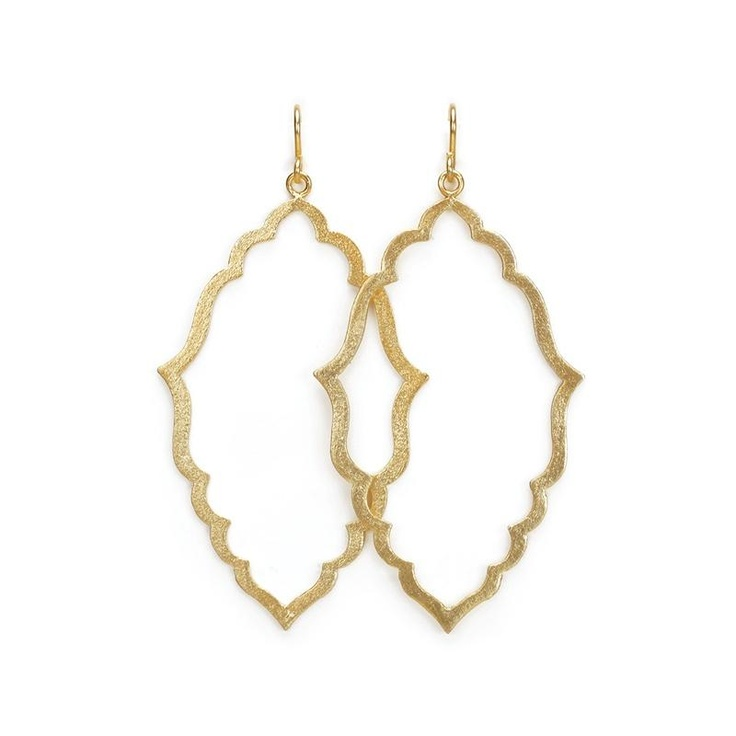 Dogeared Gold Always Beautiful Moroccan Earrings at aquaruby.com